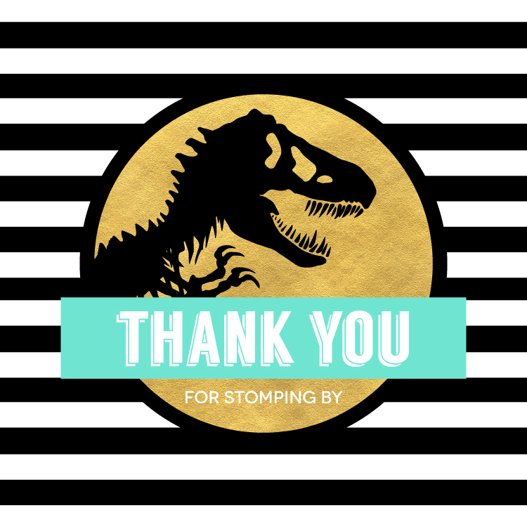 Jurassic Park Inspired Dinosaur Party Free Printable Dino
