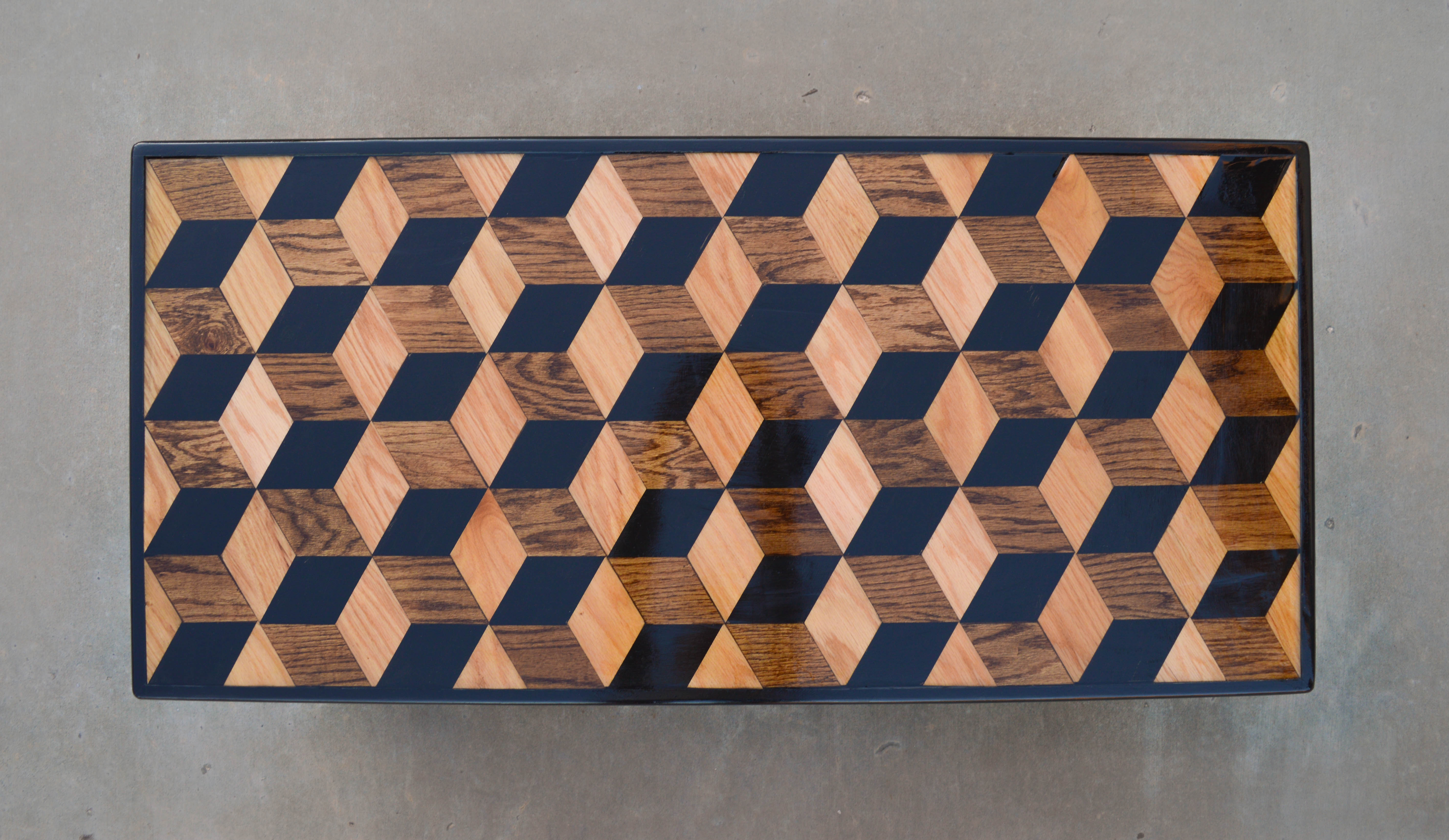 Escher coffee table john lewis anderson escher this geometric design gives the top a 3 dimensional look its sturdy construction means it will last wonderfully for years to come dailygadgetfo Gallery