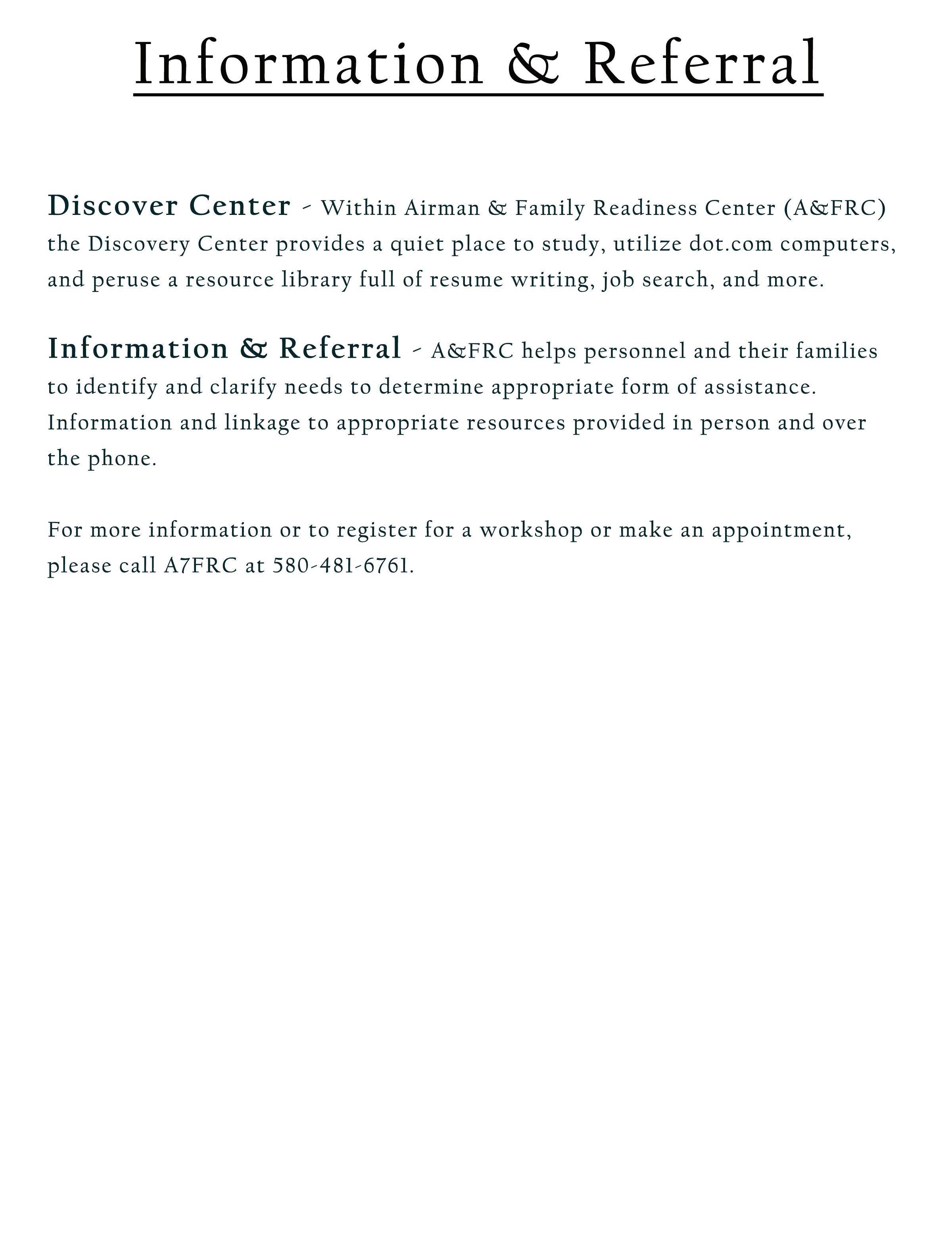 Airman Family Readiness Center Altus Fss
