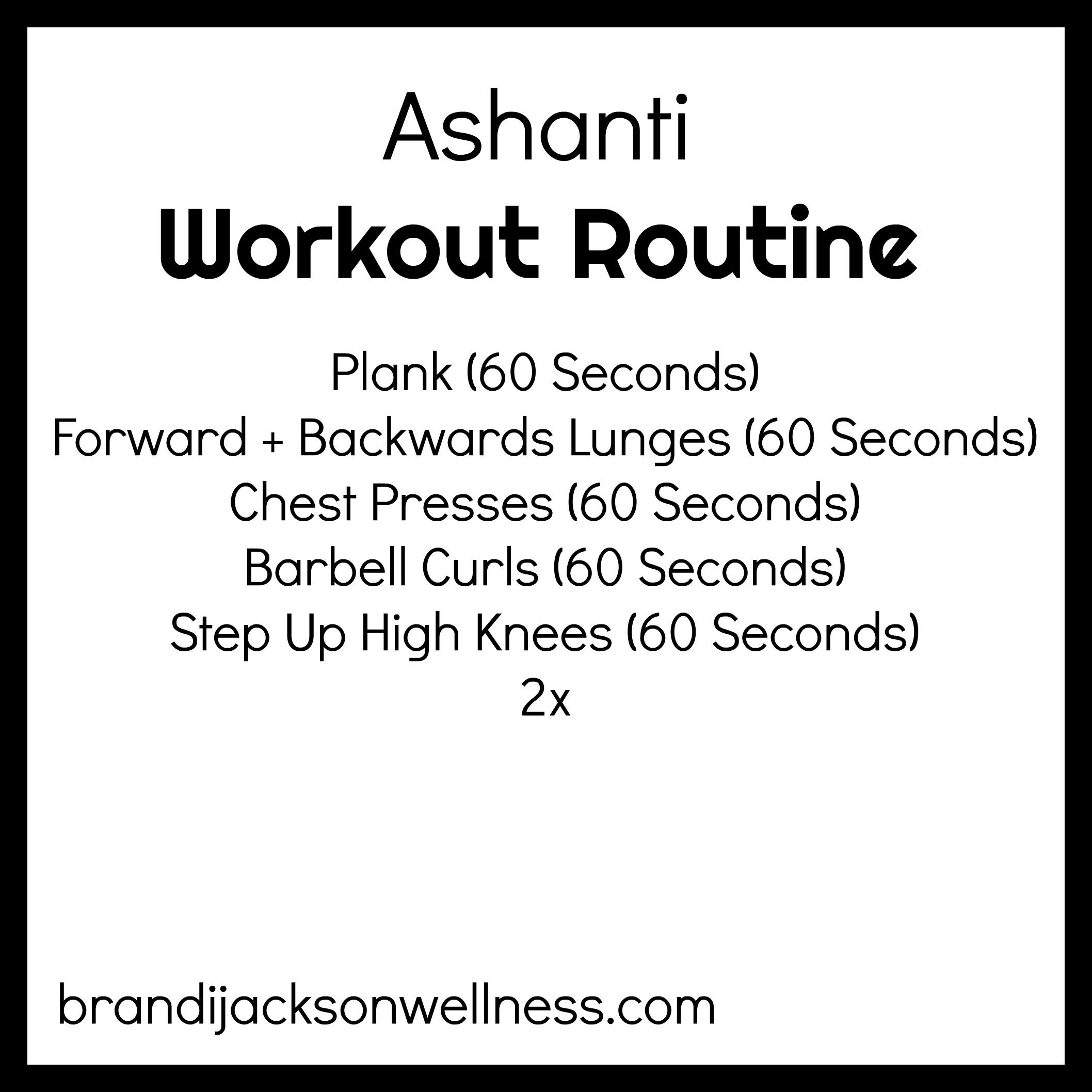 I Tried Ashantis Full Body Cardio Workout Routine 10 Minutes Tone Abs Glutes Arms