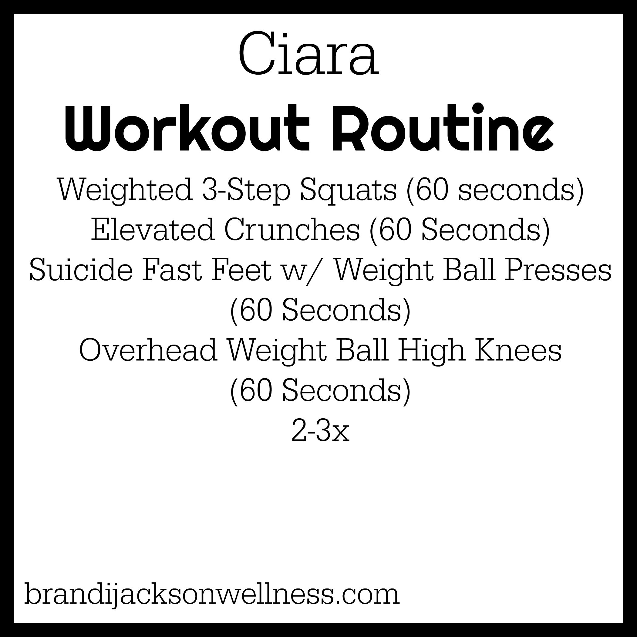 I Tried Ciaras Full Body Cardio Workout Routine For Toned Abs Glutes Arms