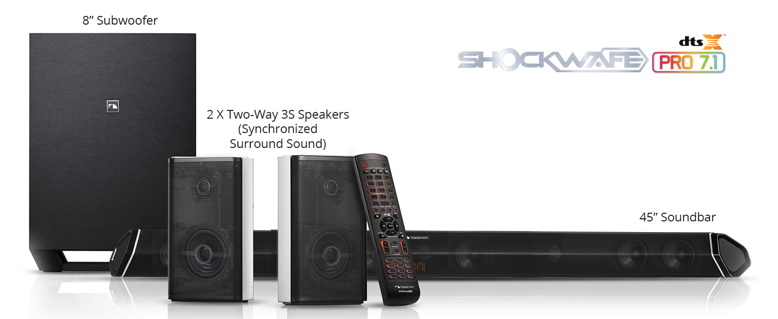 Shockwafe Ultra 9.2 DTS:X Soundbar | Dual Subwoofers | Quad Modular ...