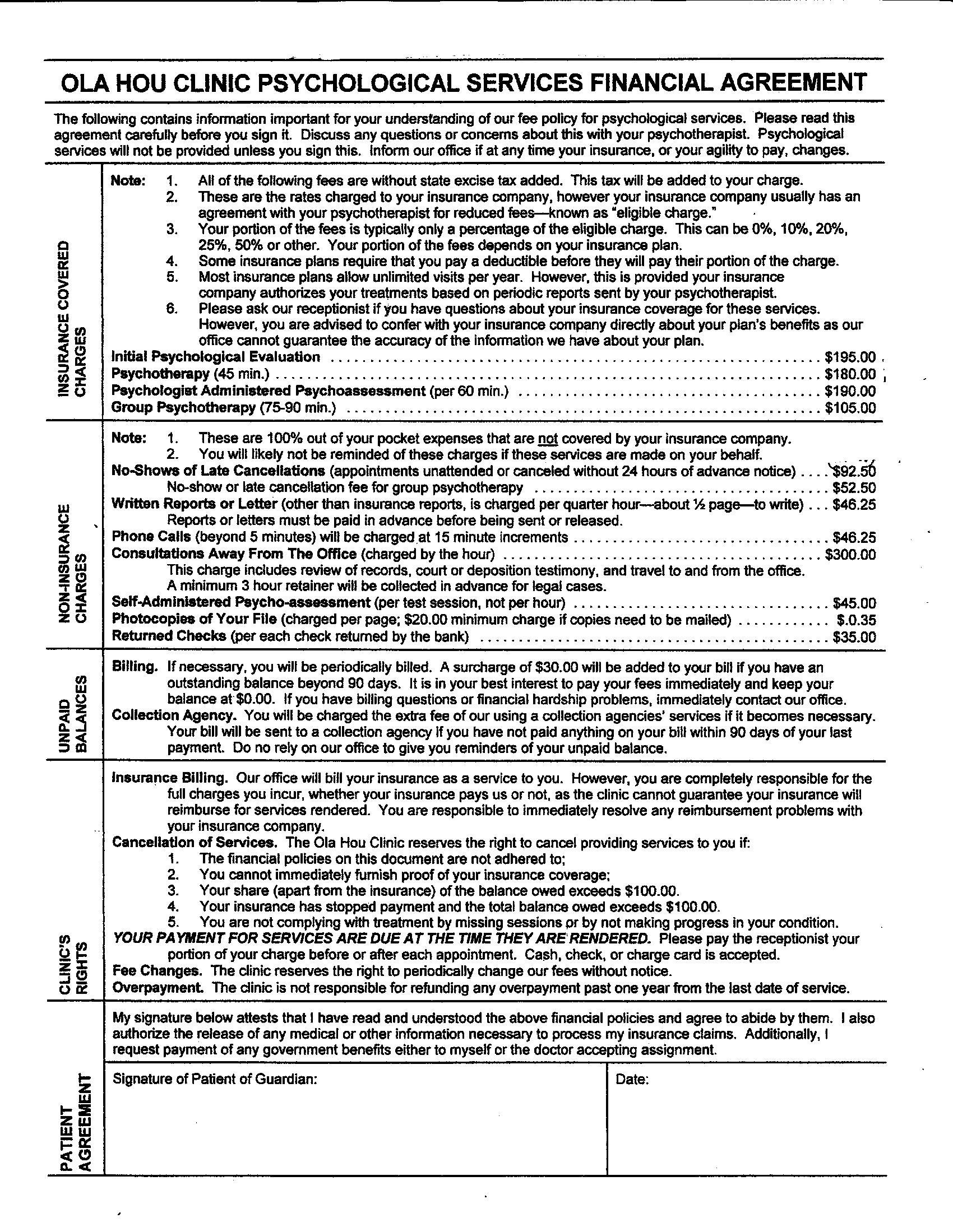 Documents Ola Hou Clinic