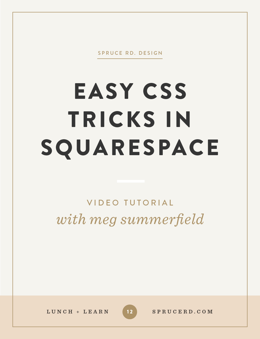 Easy CSS tricks in Squarespace — Spruce Rd