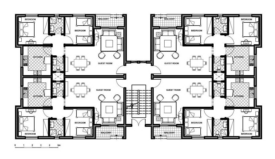 Competition announcement center for the study of the for Apartment plans dwg format
