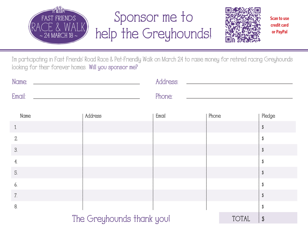 Print A Sponsorship Form.  How To Make A Sponsor Form