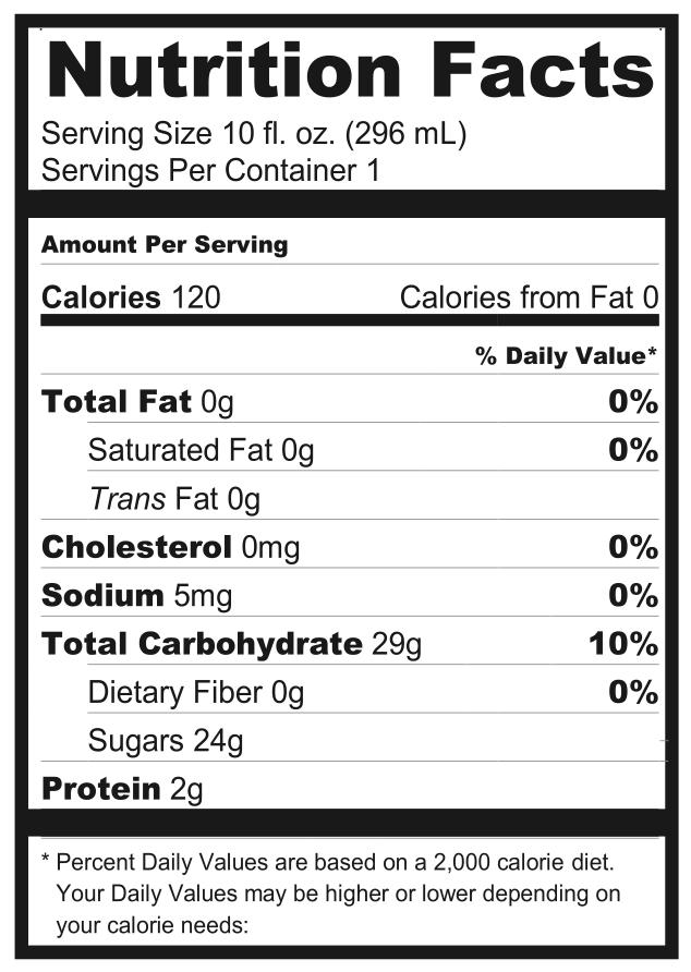 Menu Amp Nutrition Zest Juice Co