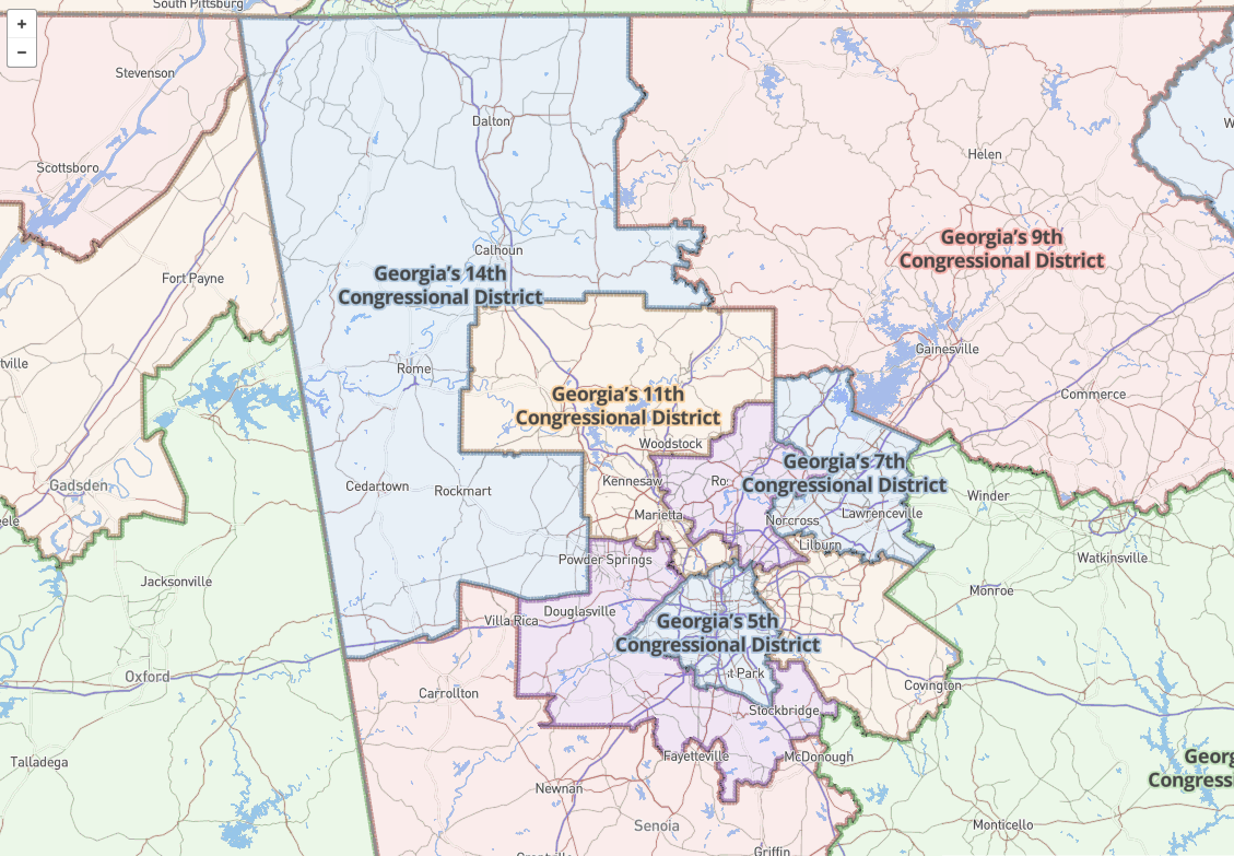 Support Science - Us house of representatives georgia district map