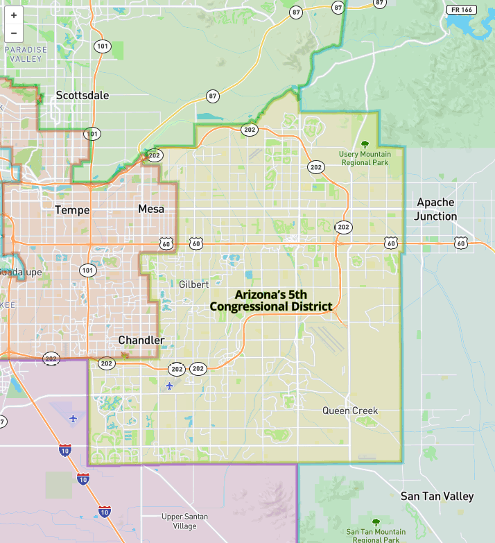 Map Of Arizona 5th Congressional District.Support Science