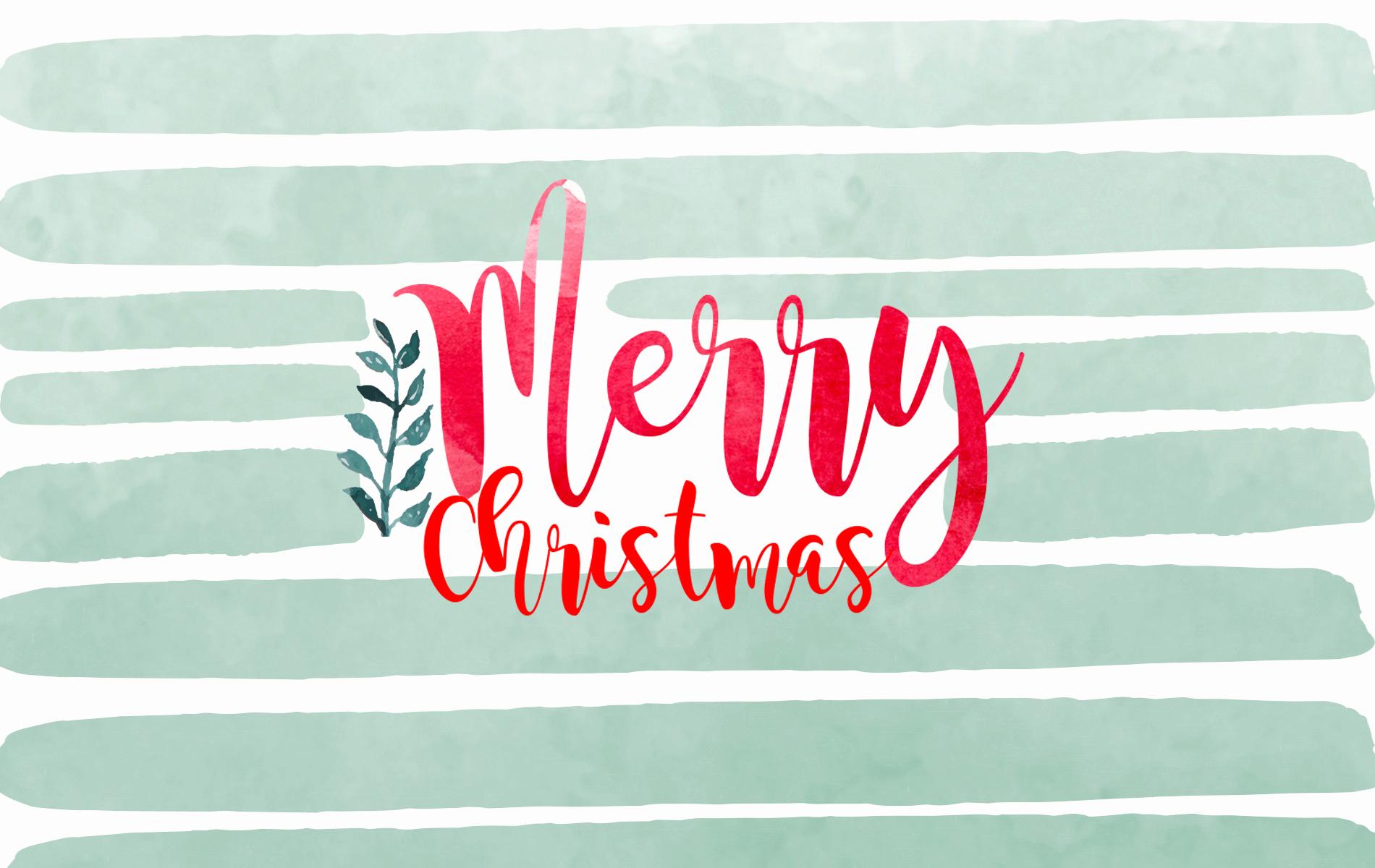 merry christmas watercolour stripe desktop ipad icy merry christmas desktop - Christmas Computer Wallpaper