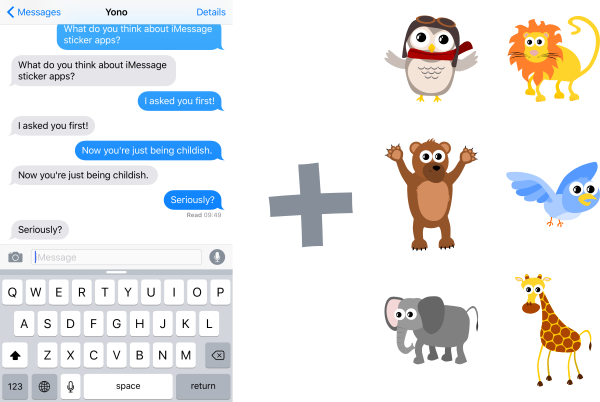 iMessage plus Gus characters