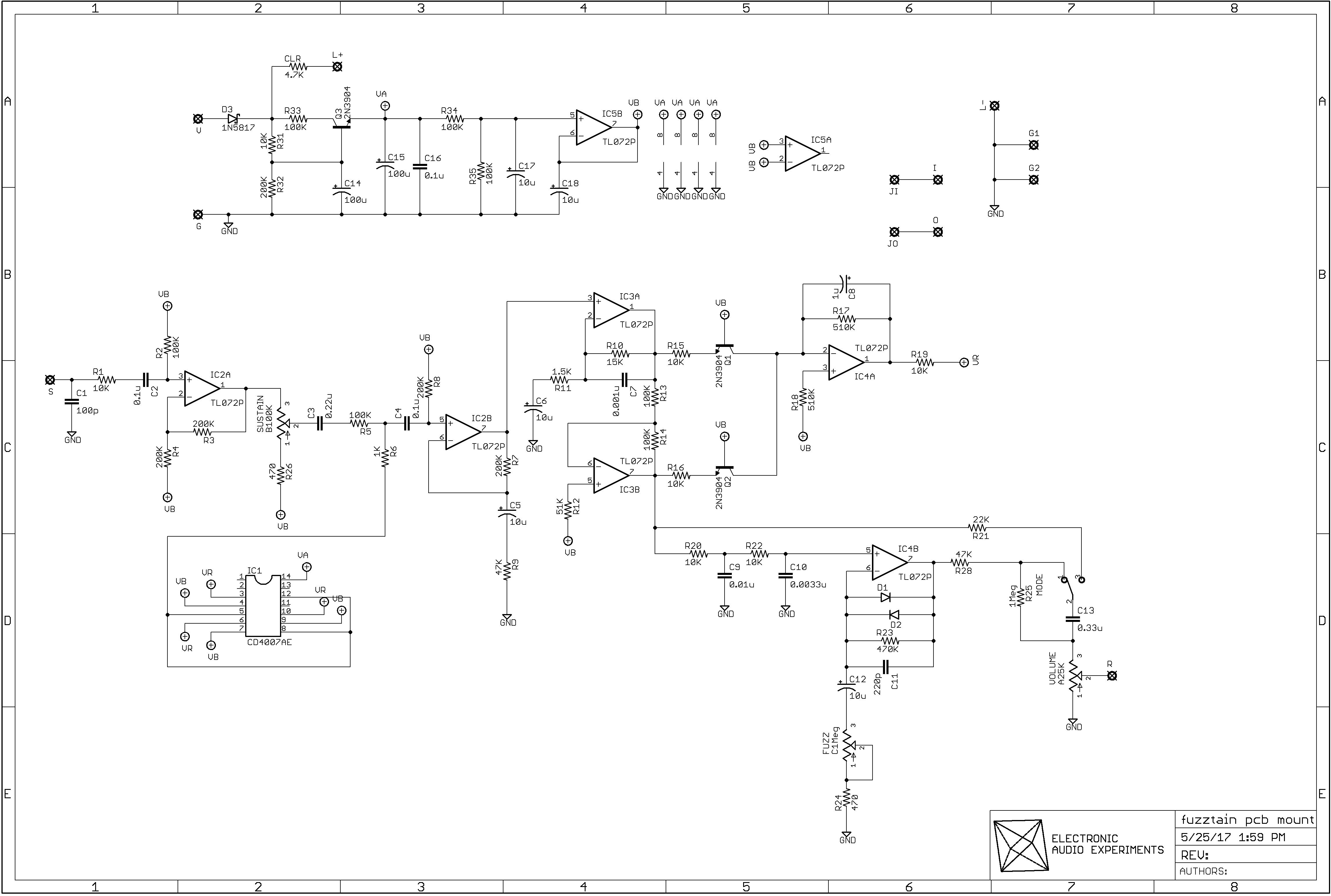 Diy Guitar Compressor Schematic Home Design Audio Electronic Experiments Rh Electronicaudioexperiments Com Wiring Schematics