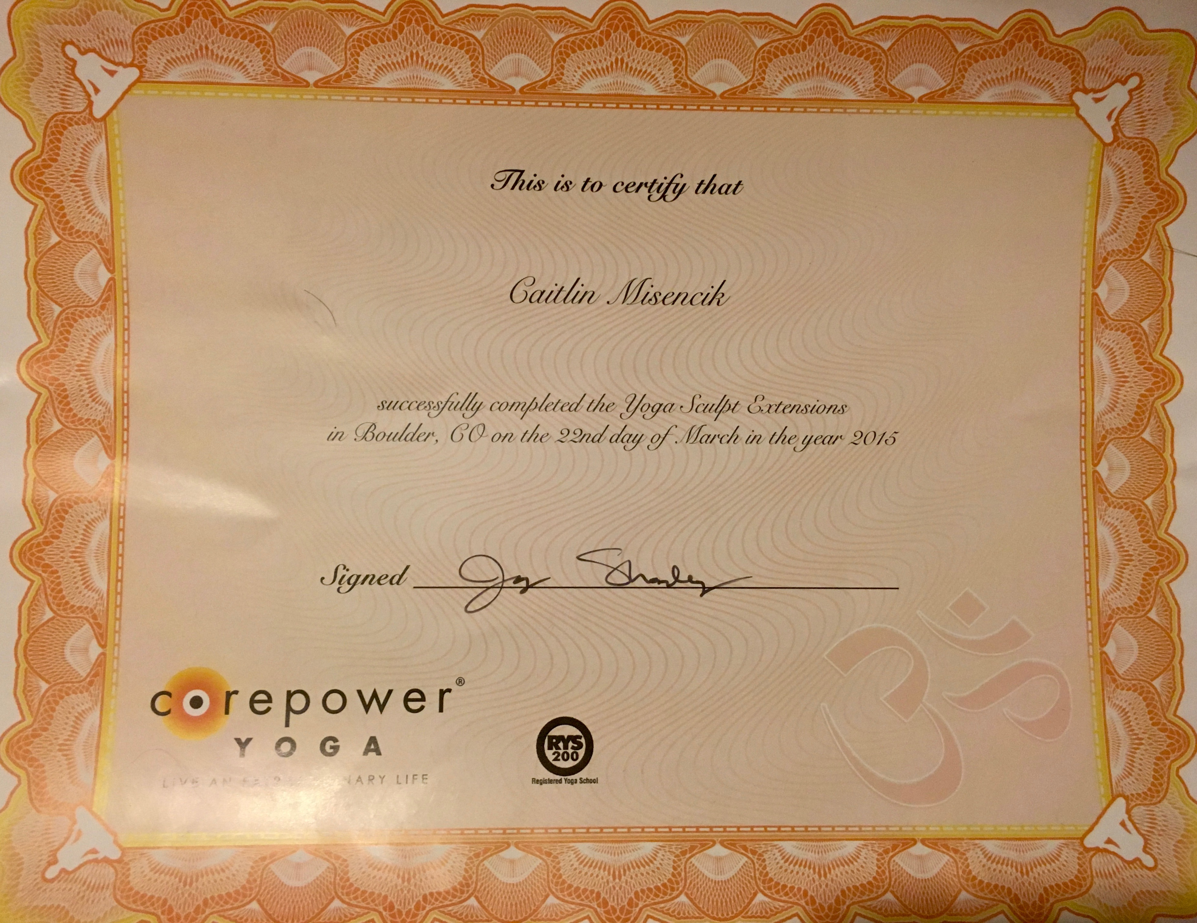 Read me nazive i am a certified yoga sculpt instructor from corepower yoga click here to see my certificate for yoga sculpt teacher training and 1betcityfo Images