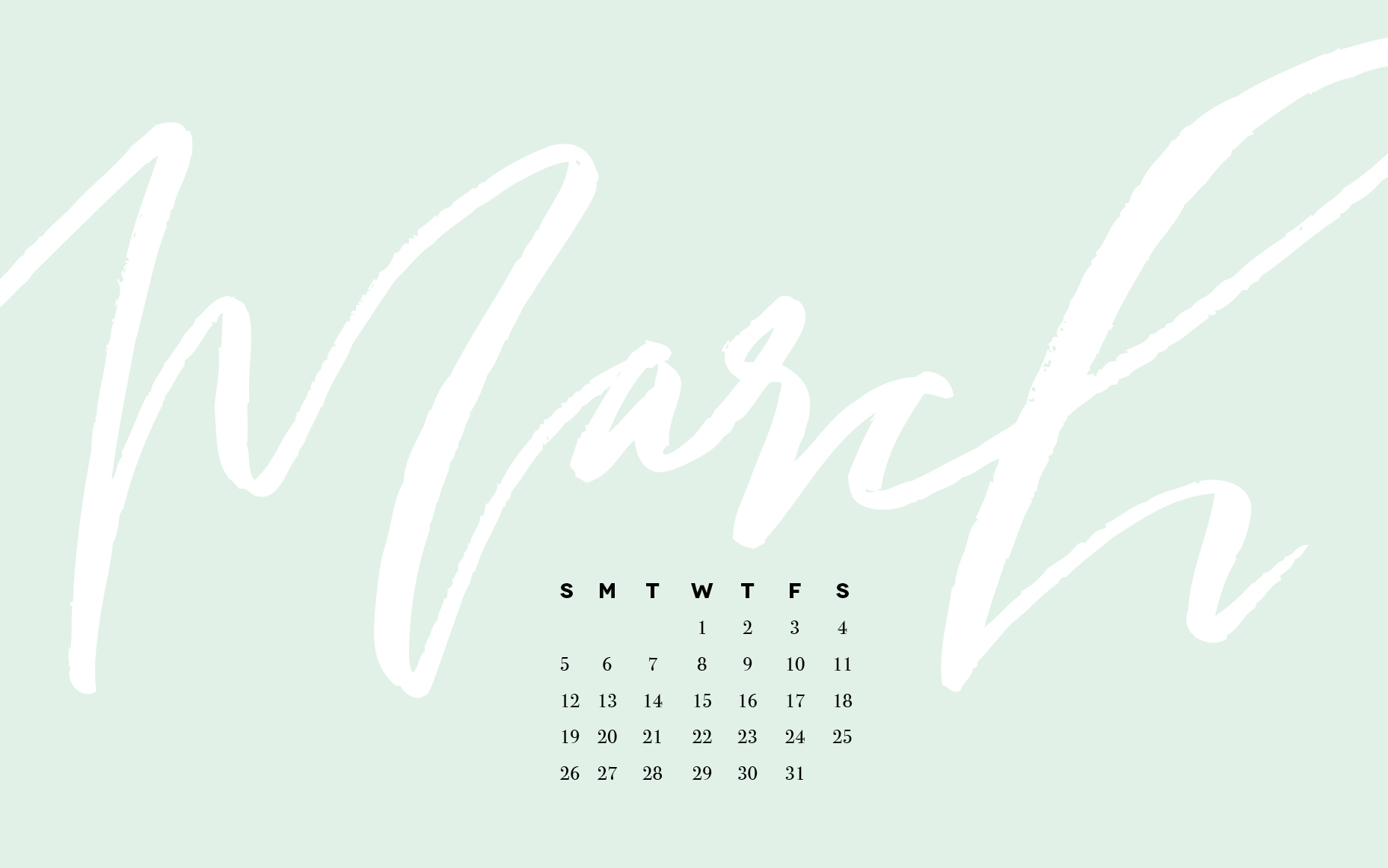 Freebie March Desktop Wallpaper Rebekah Disch Design
