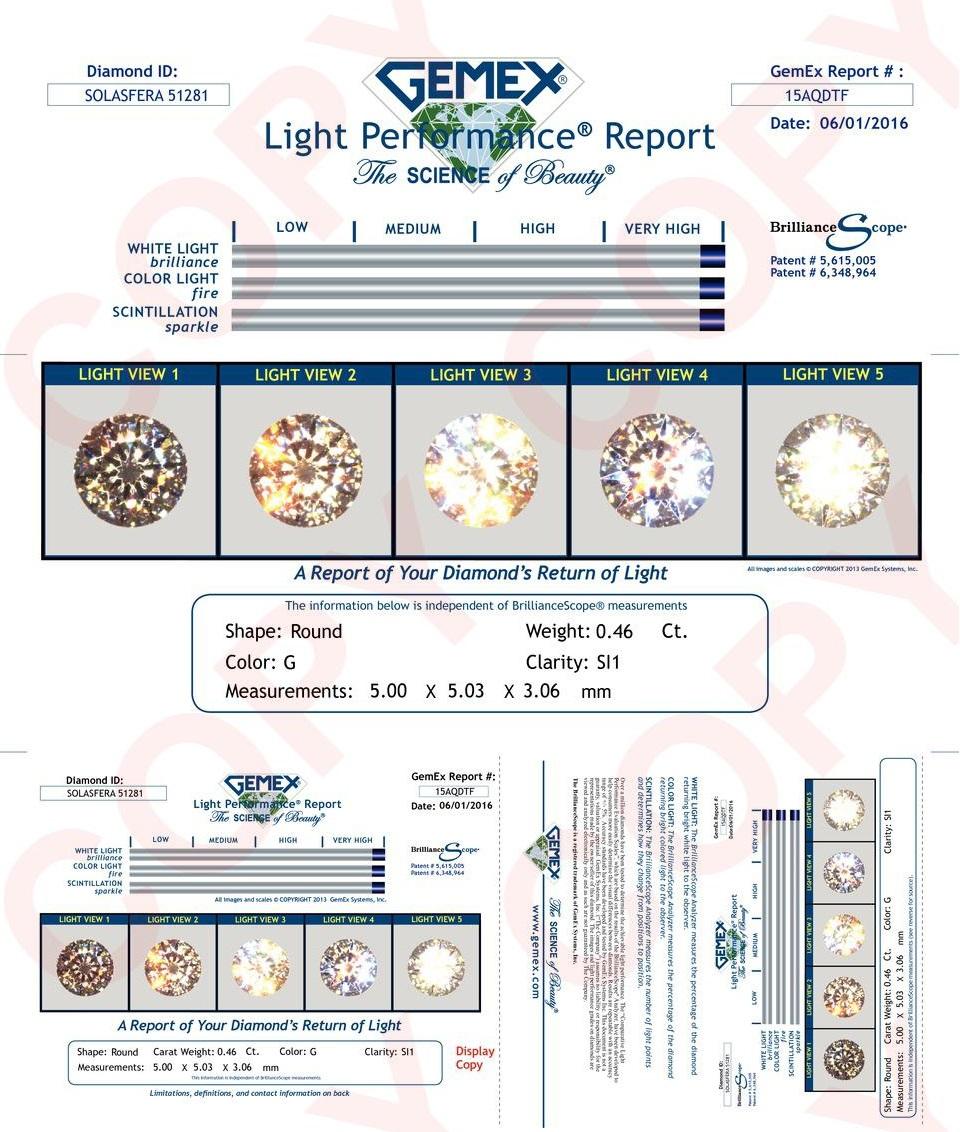 046ct Gsi1 Solasfera Round Diamond David S Diamonds