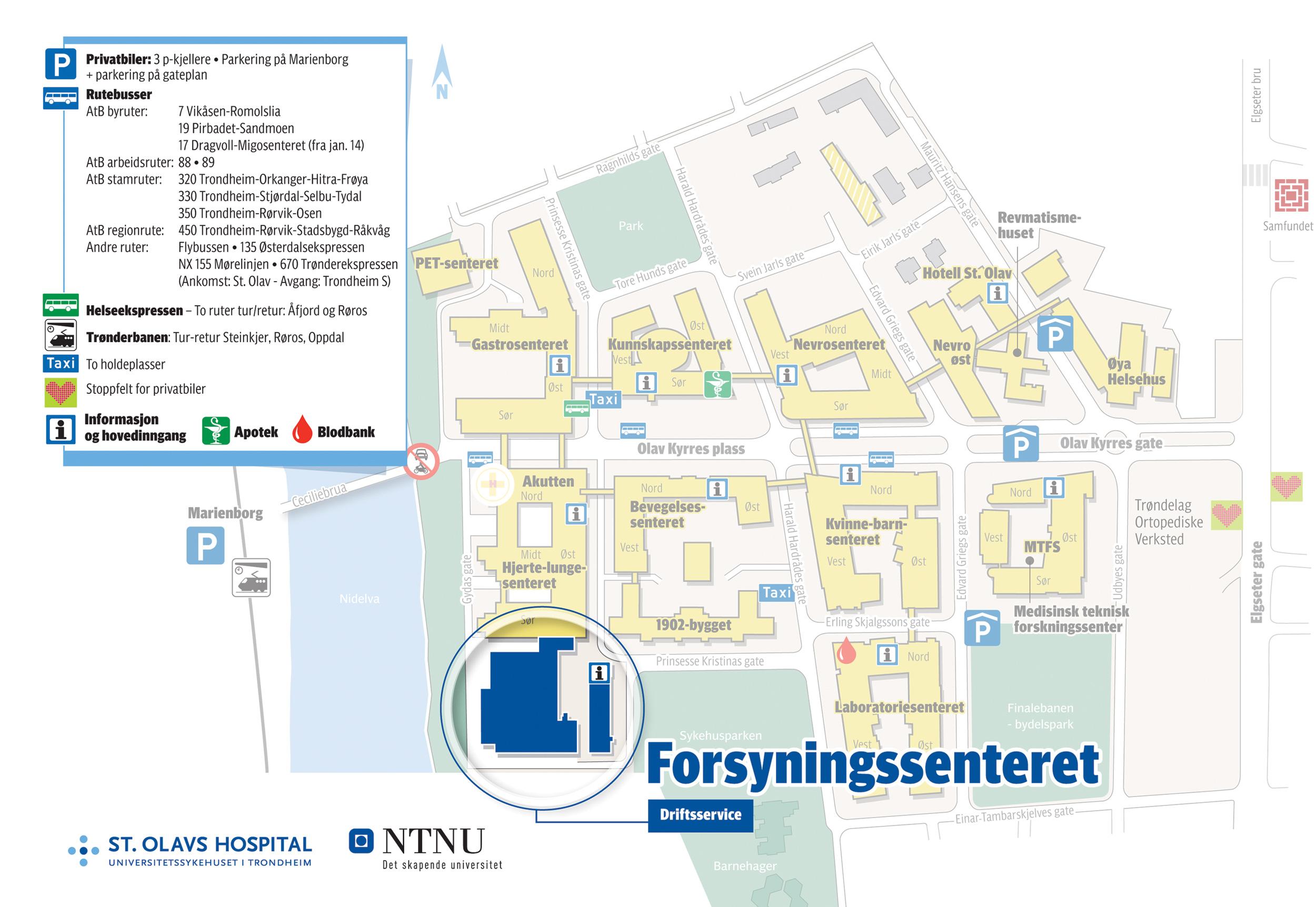 Kart St Olavs Hospital Dedooddeband