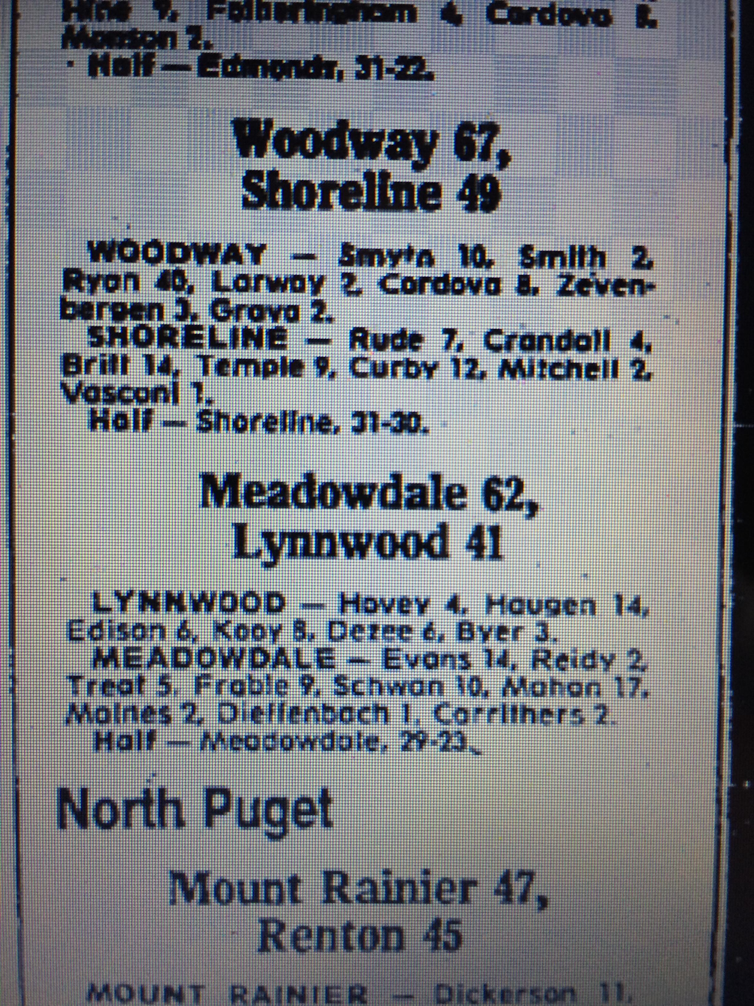 1980-81 — Meadowdale Basketball