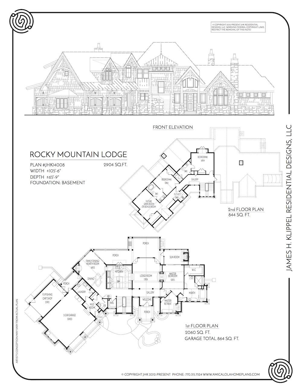 Rocky Mountain Lodge Rustic Mountain Homes Amicalola Home Plans