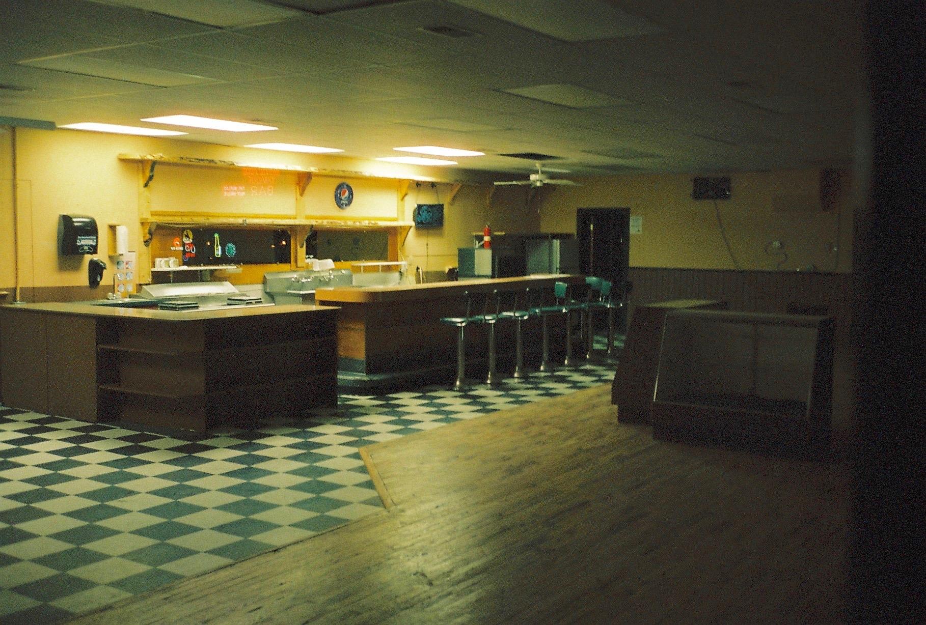 Interior of an empty bar
