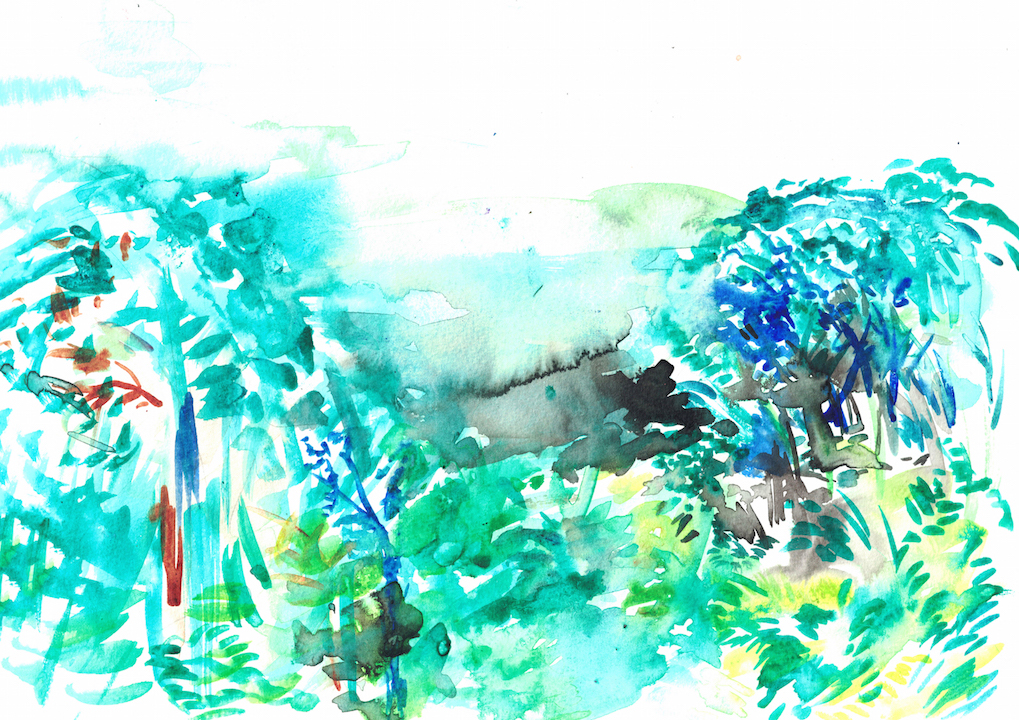 watercolour of jungle