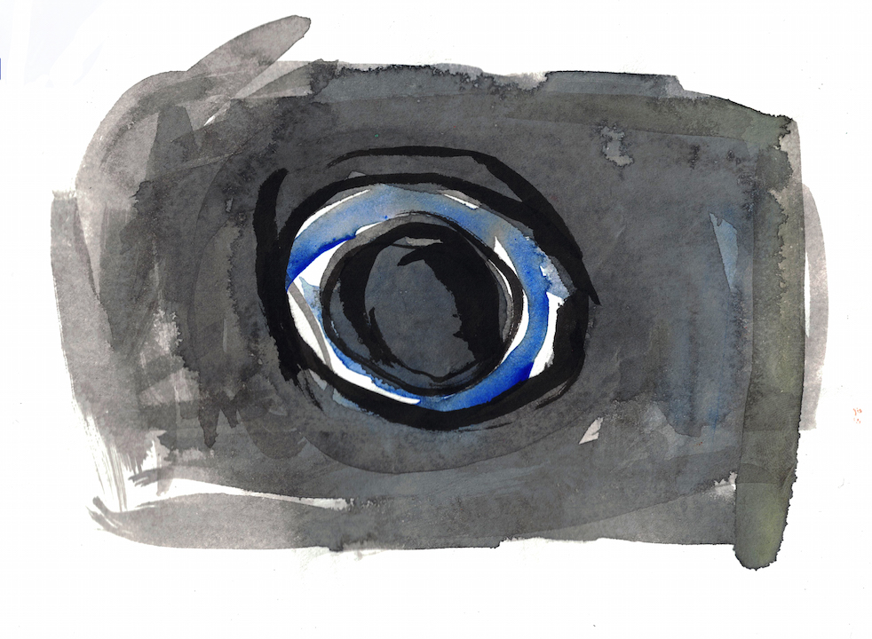 watercolour of an eye