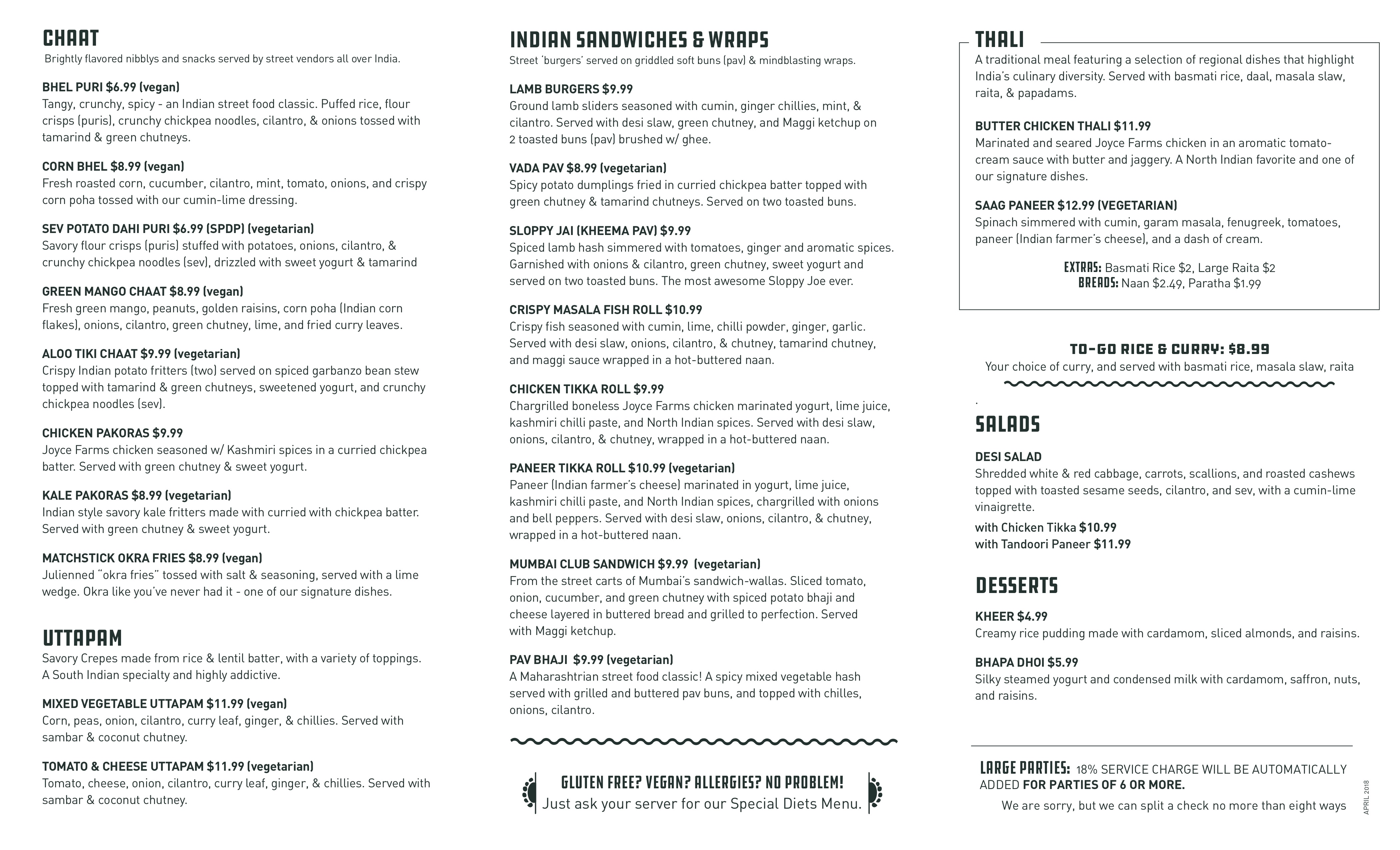 Click Here For Our Food Menu