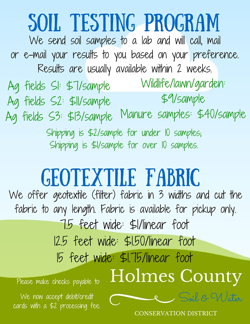tom graham 5th grade conservation farm tour holmes soil water soil sample filter fabric pricing