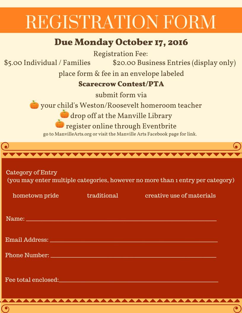 Harvest Fair & Scarecrow Contest — Manville Arts Council