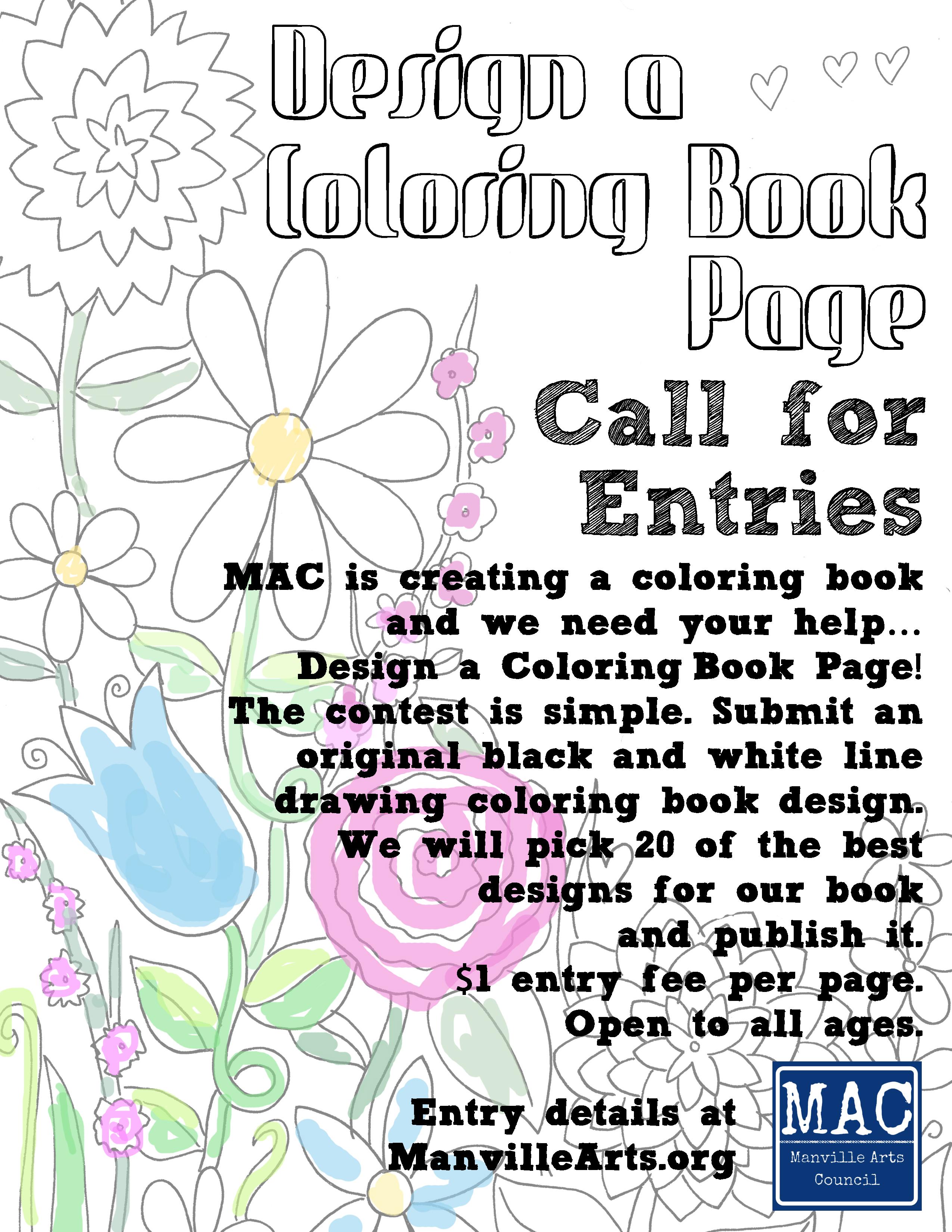 Design a Coloring Book Page — Manville Arts Council