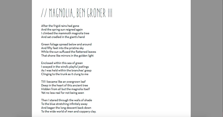Magnolia Ben Groner Iii