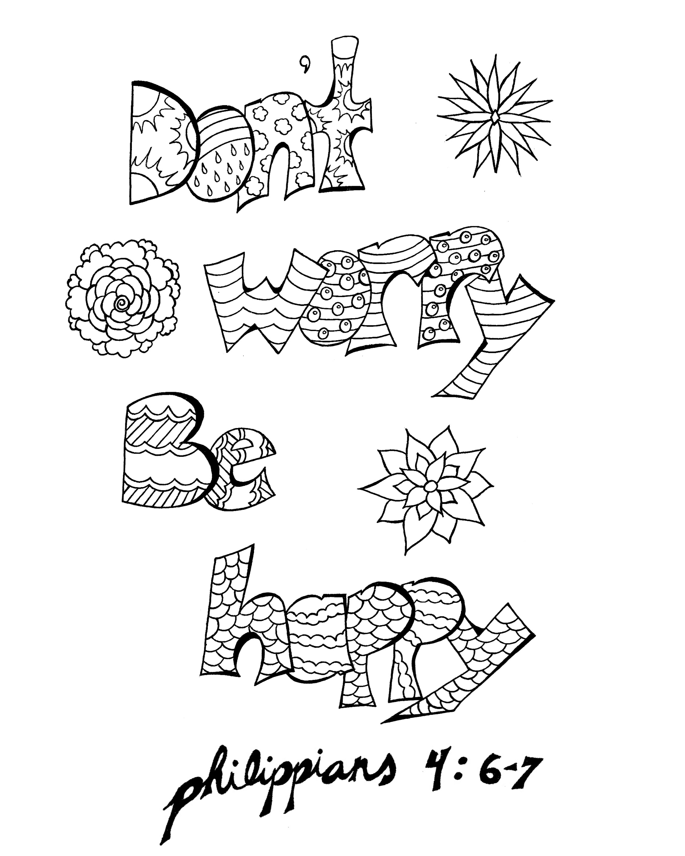 free download don u0027t worry be happy printable coloring page