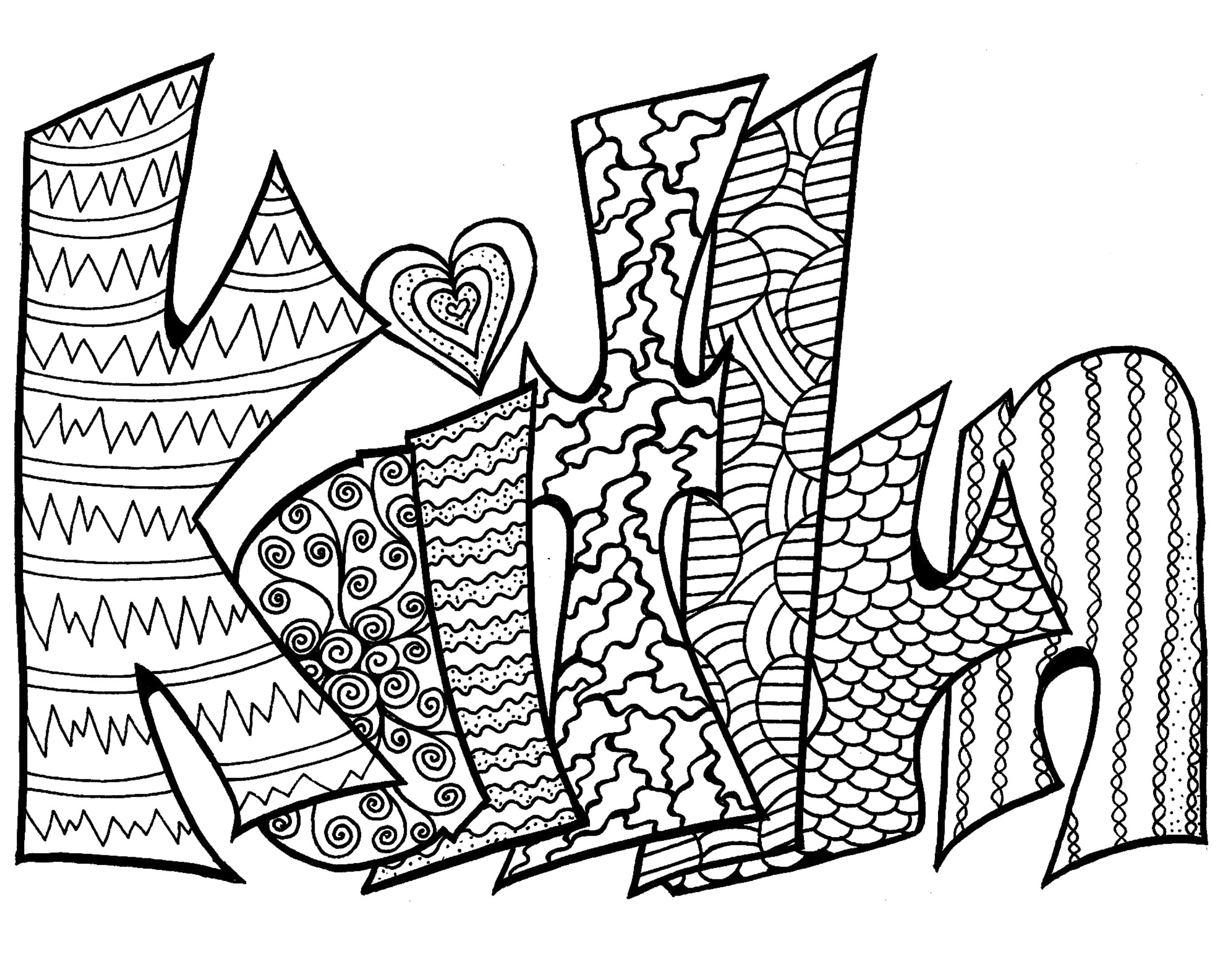 Coloring pages of the name kaitlyn murderthestout for Printable name coloring pages
