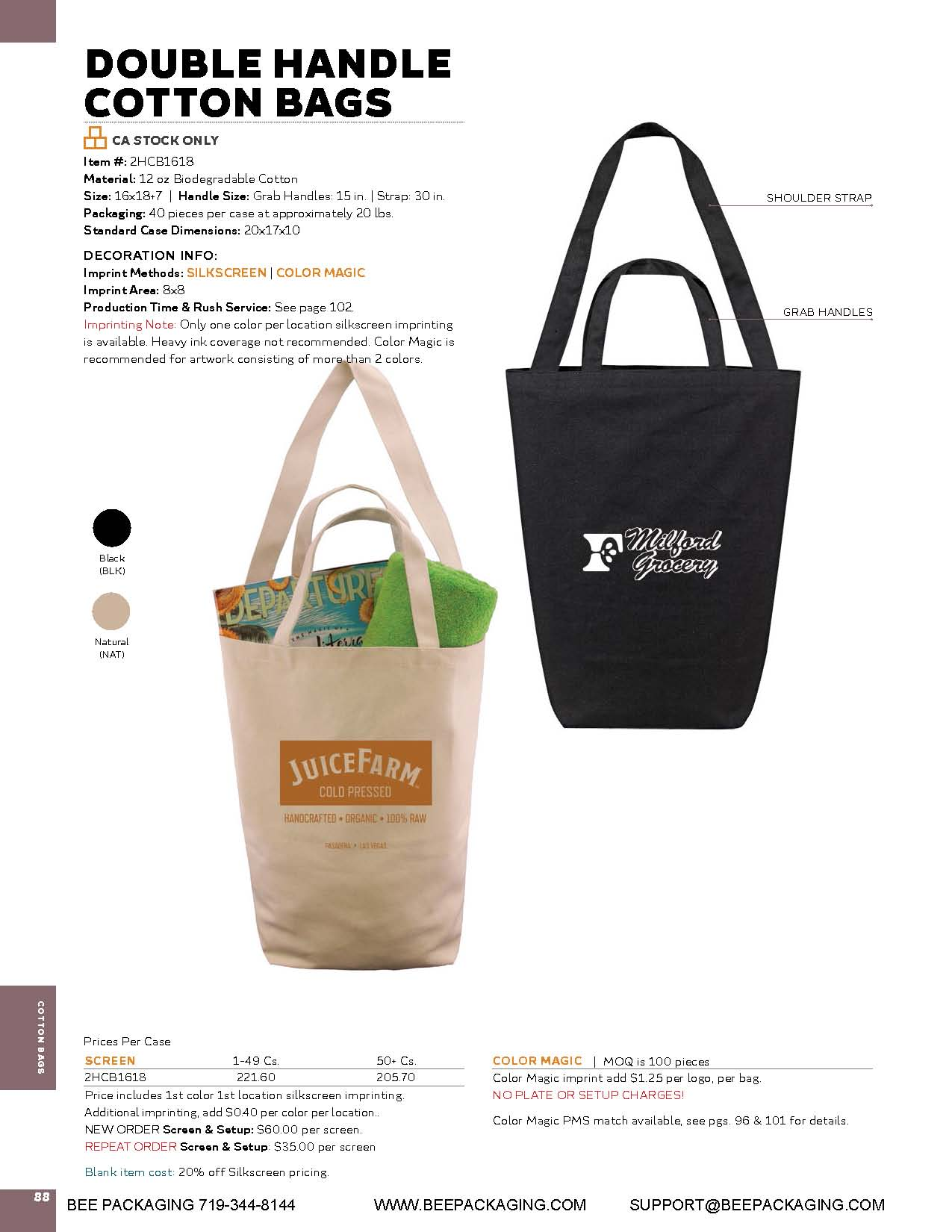 6b0480ab1ed Double handle natural biodegradable cotton bags. Boat cotton canvas totes  reusable ...