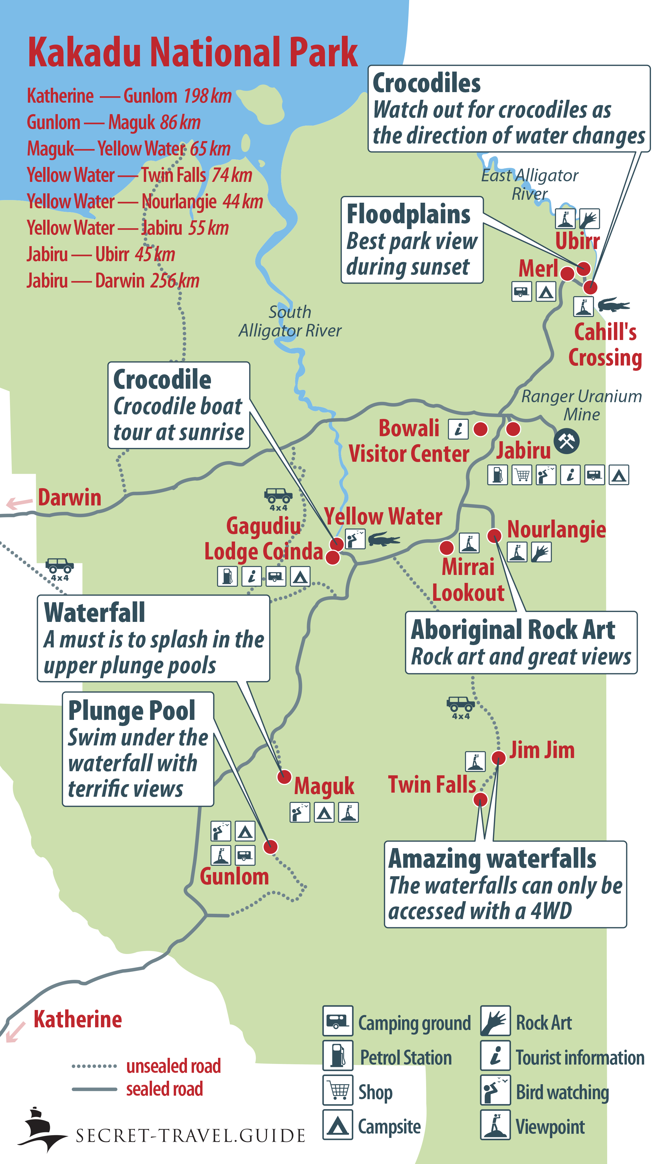 Map Of Australia Kakadu National Park.Guide To Kakadu National Park Australia Secret Travel Guide