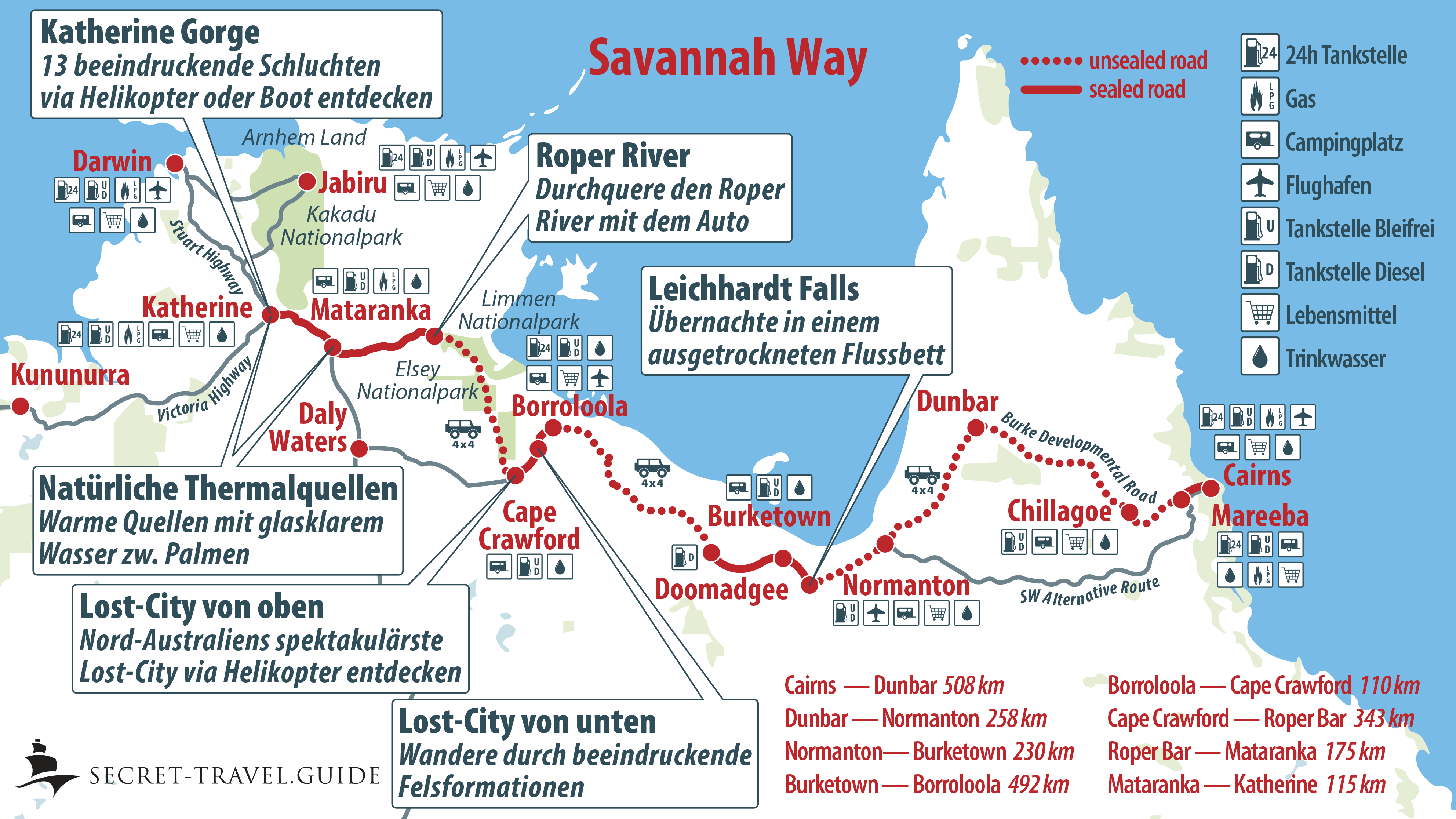Savannah Way - von Cairns nach Katherine — secret-travel.guide