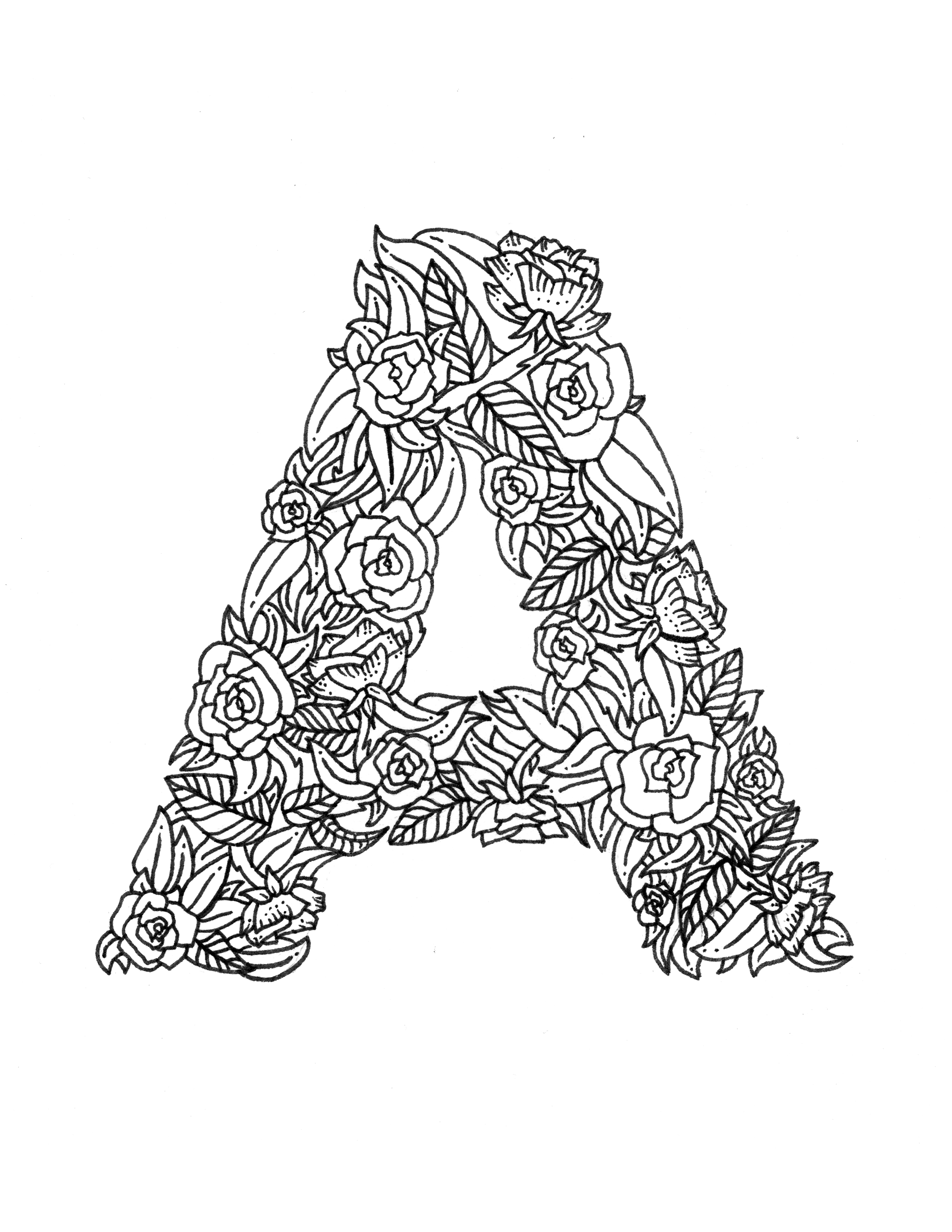 adult coloring pages letter a | Download Free Coloring Pages | Boelter Design Co.