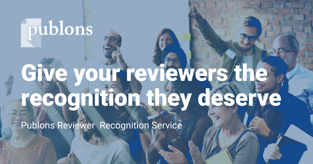 Reviewer Recognition Service for Publishers — Publons