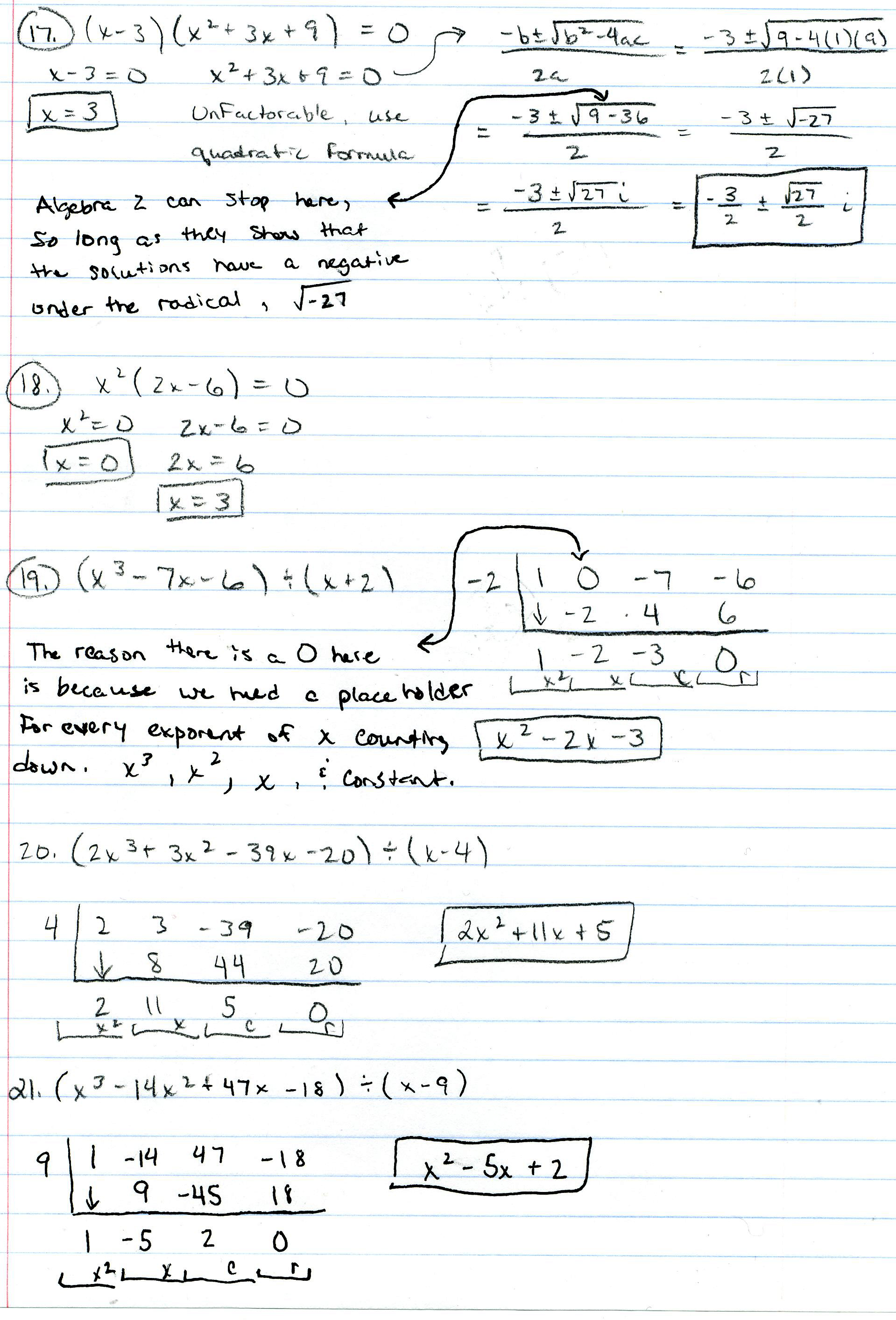 Printables Algebra 2 Worksheets With Answer Key algebra 2 mr deibels class answer key pg 1 2