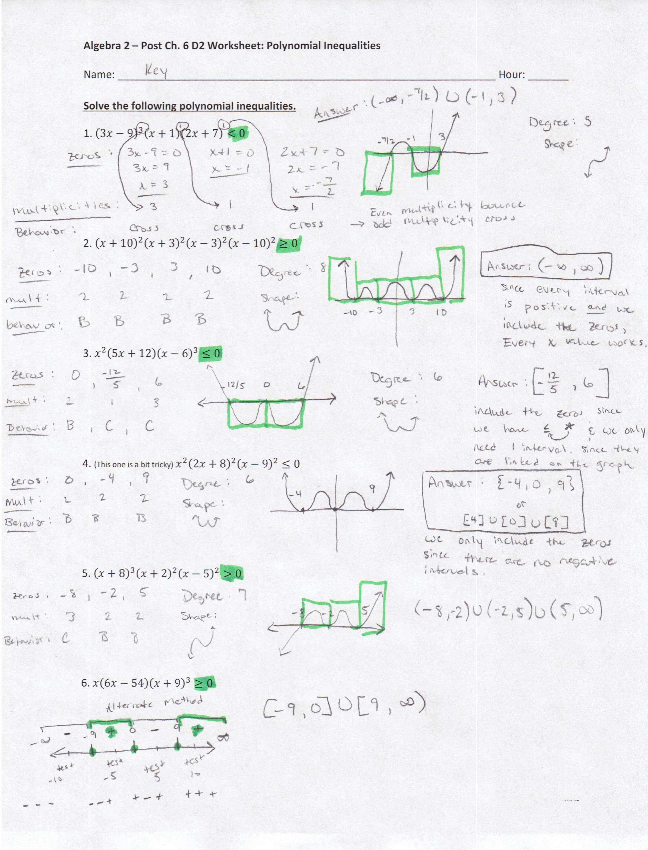 - Algebra 2 PDFs — Mr. Deibel's Class