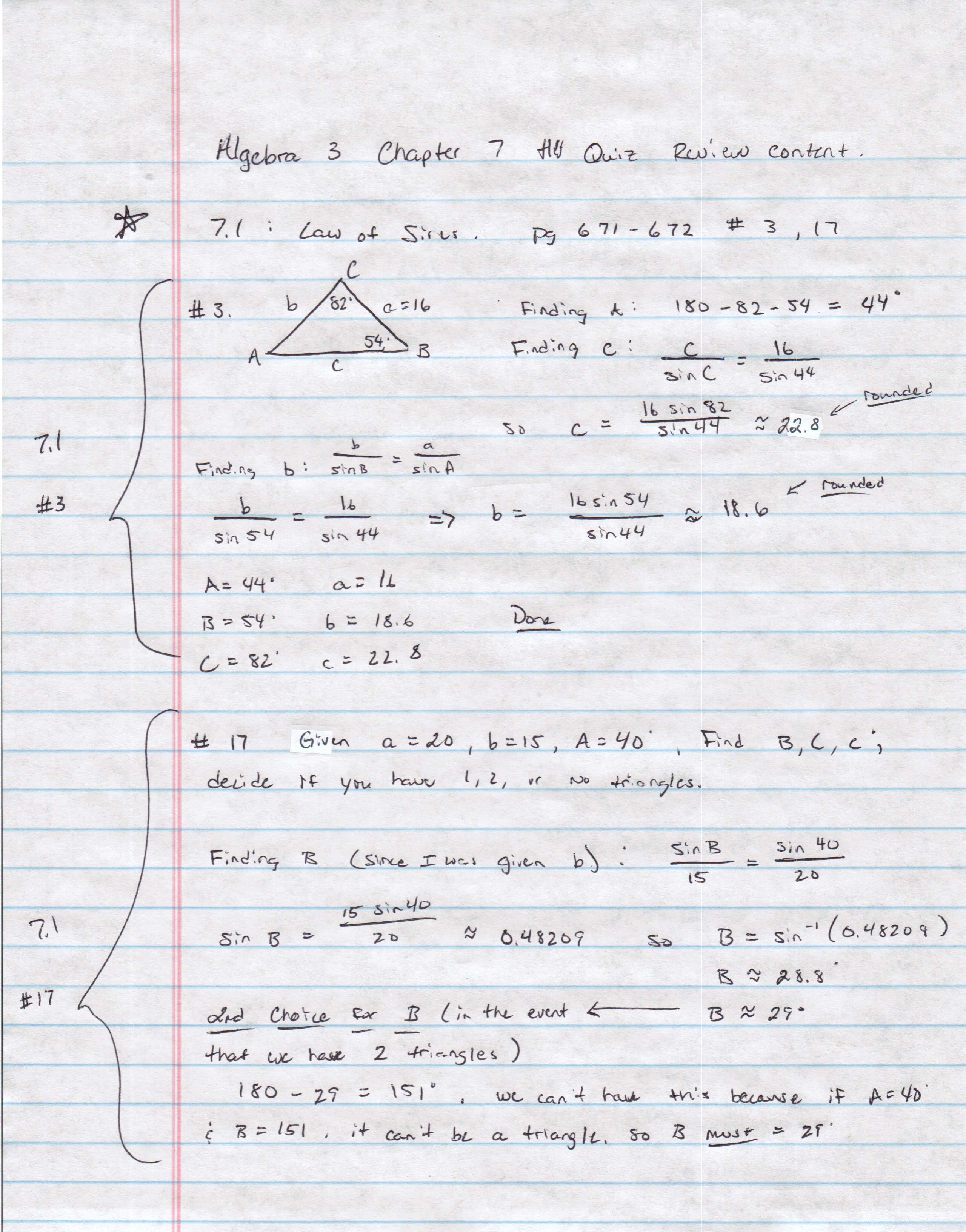 Algebra 3 PDFs — Mr Deibel s Class