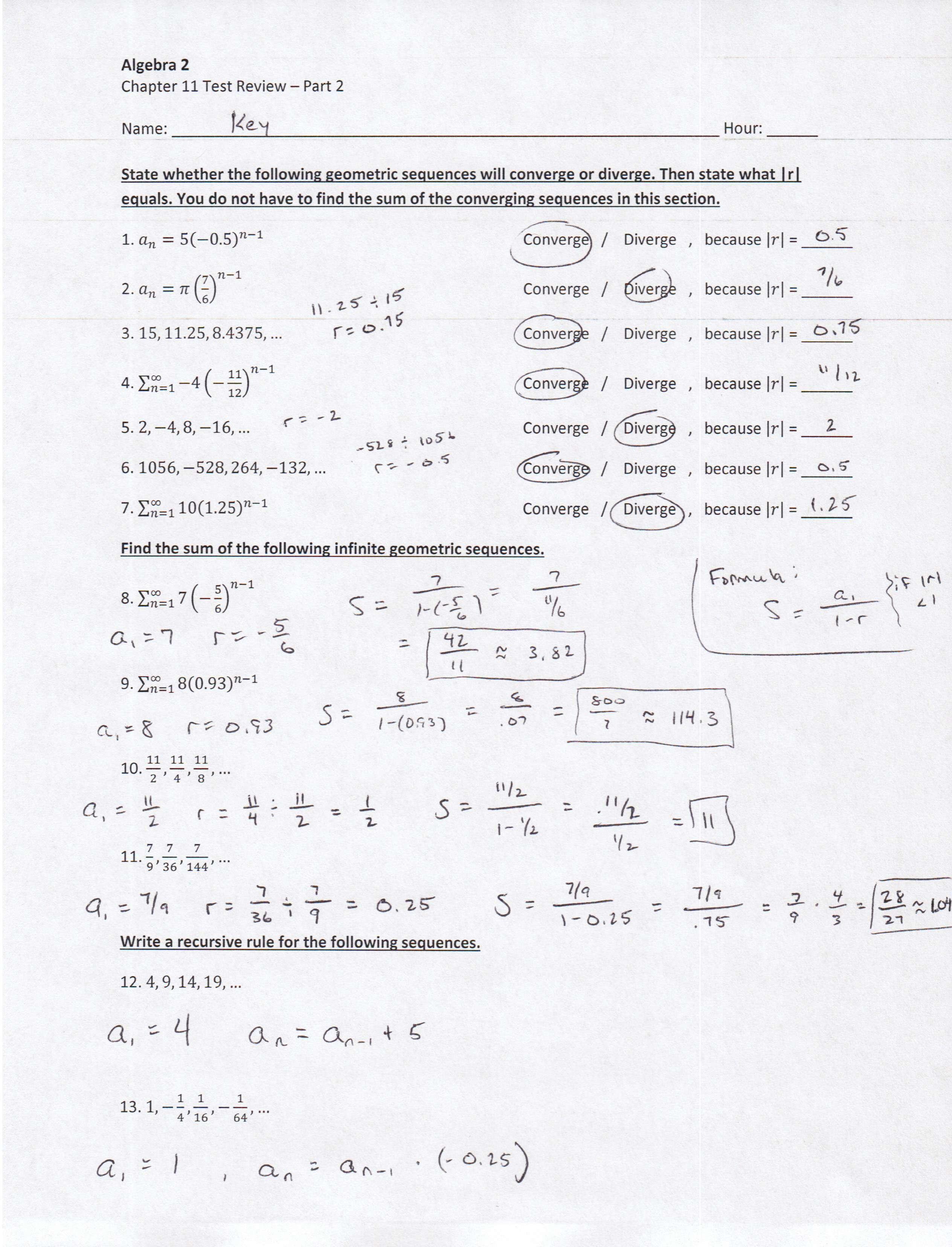 Algebra 23 PDFs — Mr. Deibel
