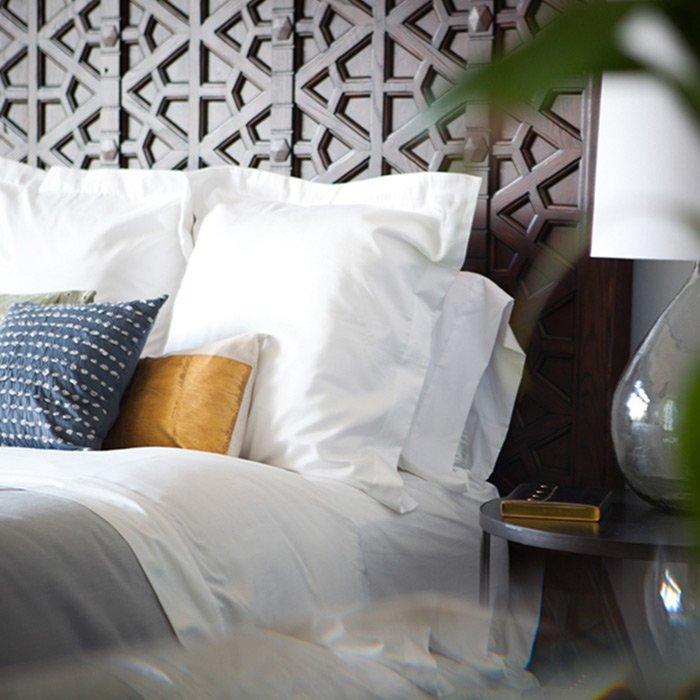bed headboard detail