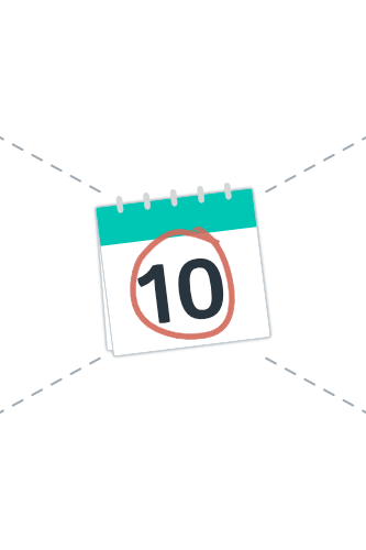 Calendar graphic with circled date