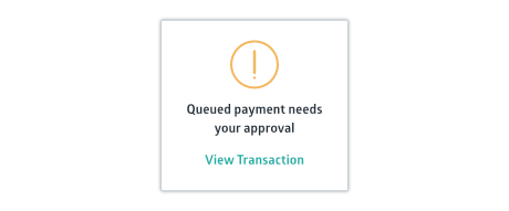 Crunched queued payment needs approval notification