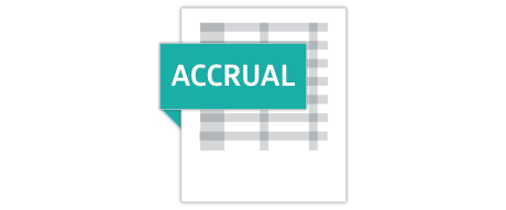 Accrual accounting method report