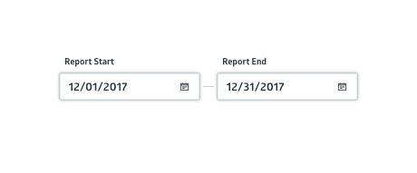 Financial report date range selector