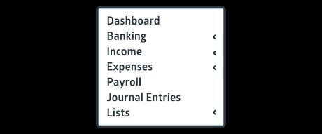 Crunched software navigation menu