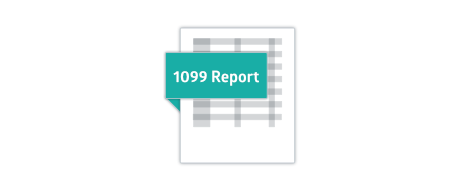 Crunched 1099 report graphic