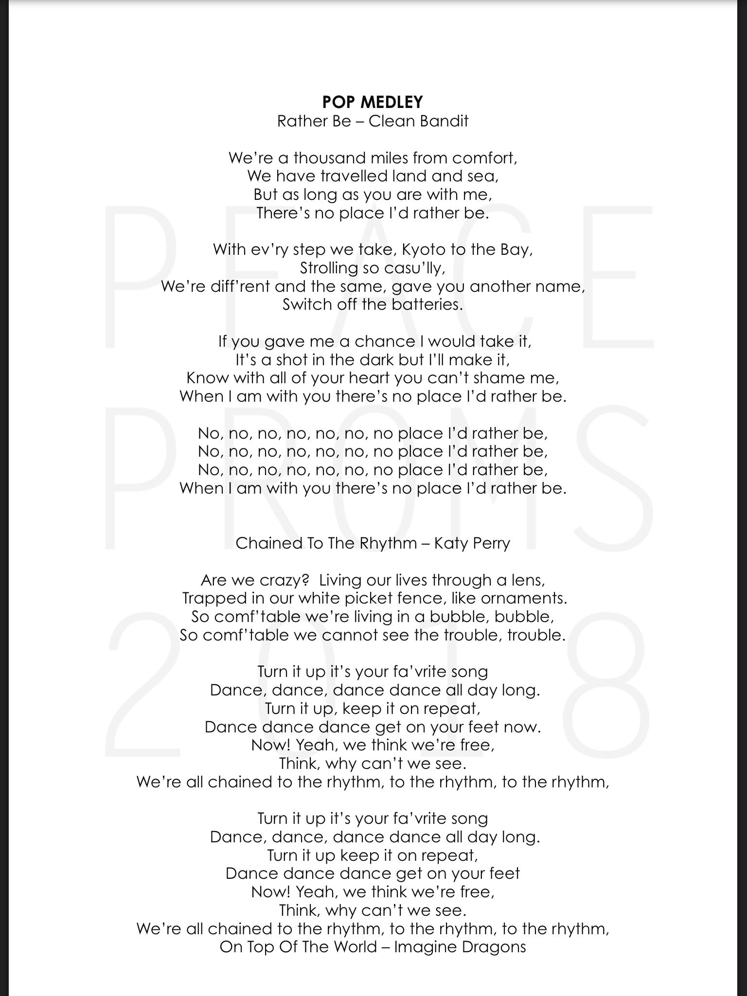 Pop Lyrics 1