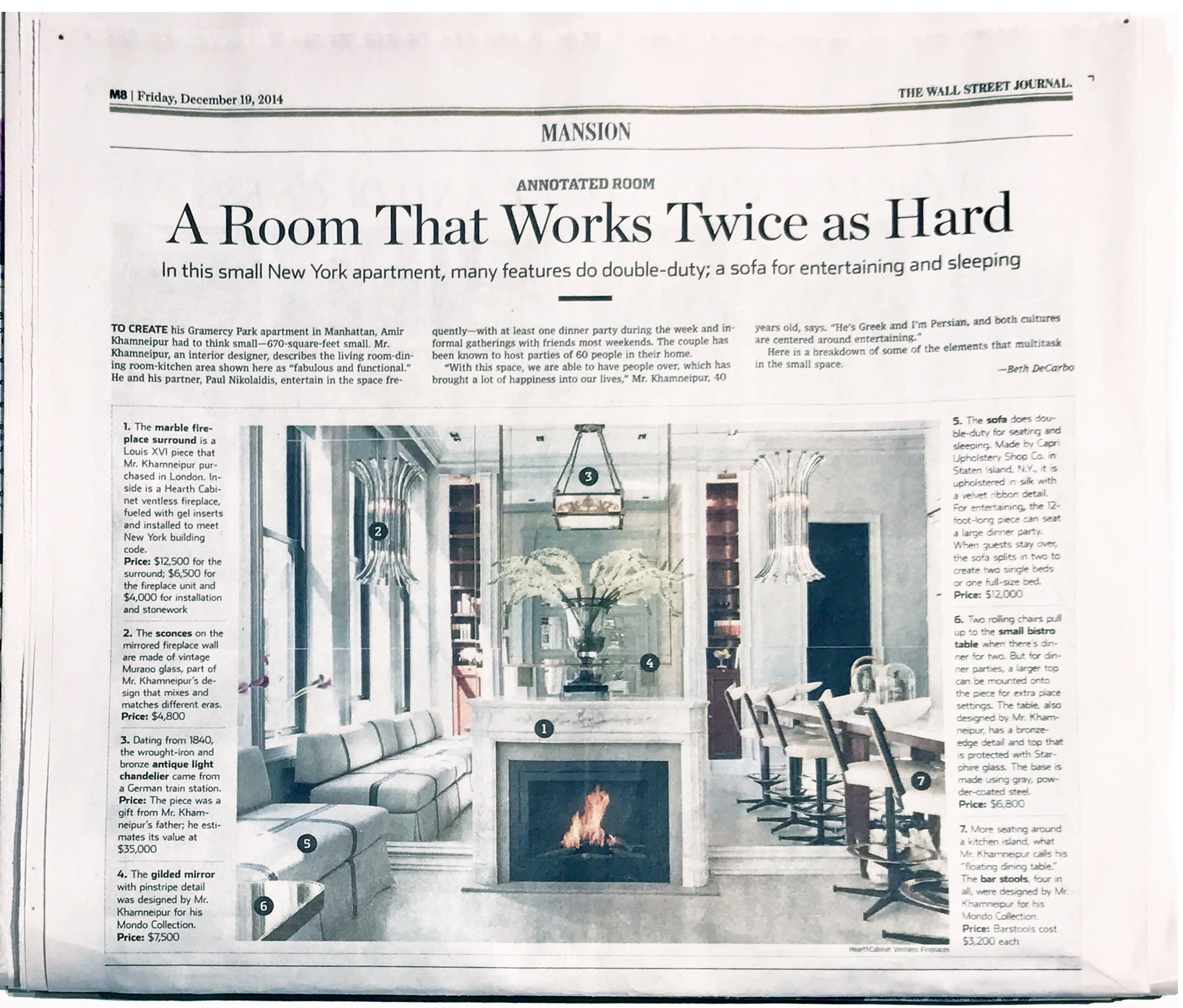 A Tiny Apartment Works Twice as Hard / The Wall Street Journal